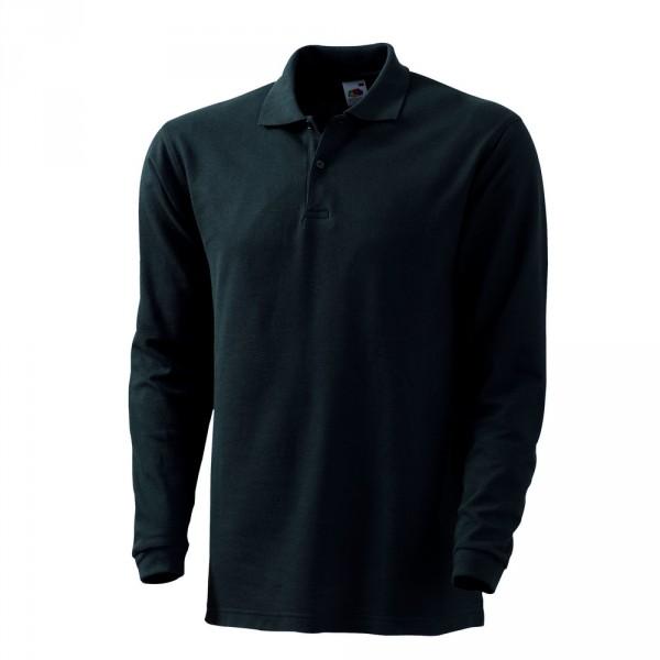 FRUIT OF THE LOOM Polo-Shirt langarm
