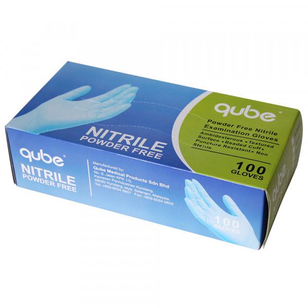 QUBE Nitril-Einweghandschuhe